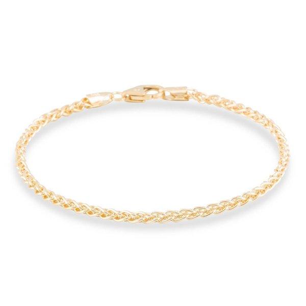 Gouden schakelarmband - 19 cm - palmier - 2.5 mm