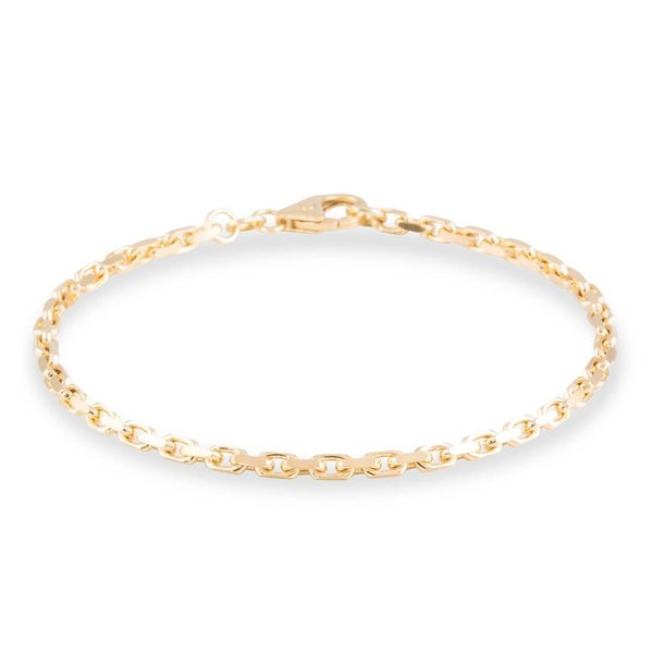 Gouden schakelarmband - 19 cm - anker - 2.5 mm