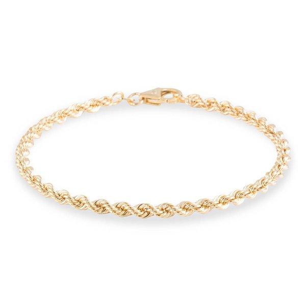 Gouden schakelarmband - 19 cm - koord - 3.2 mm