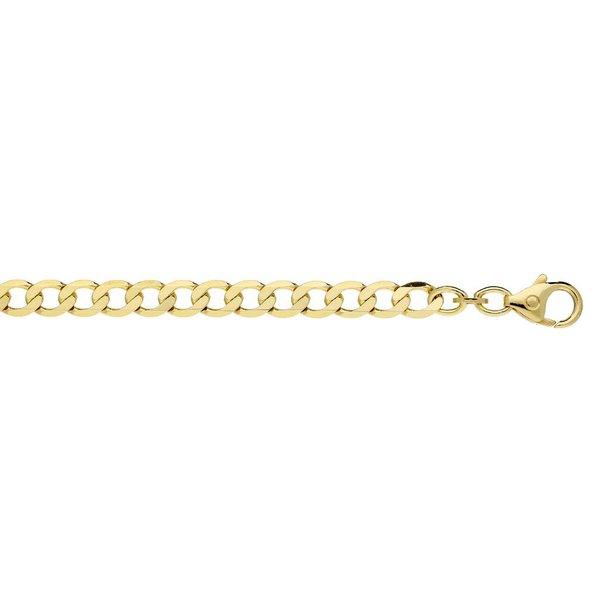 Gouden schakelarmband - 19 cm - open gourmet