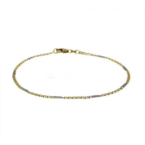 Gouden schakelarmband - 19 cm - fantasie - 1.9 mm