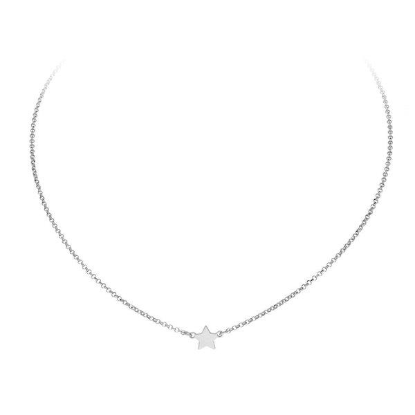 Zilveren anker collier - ster
