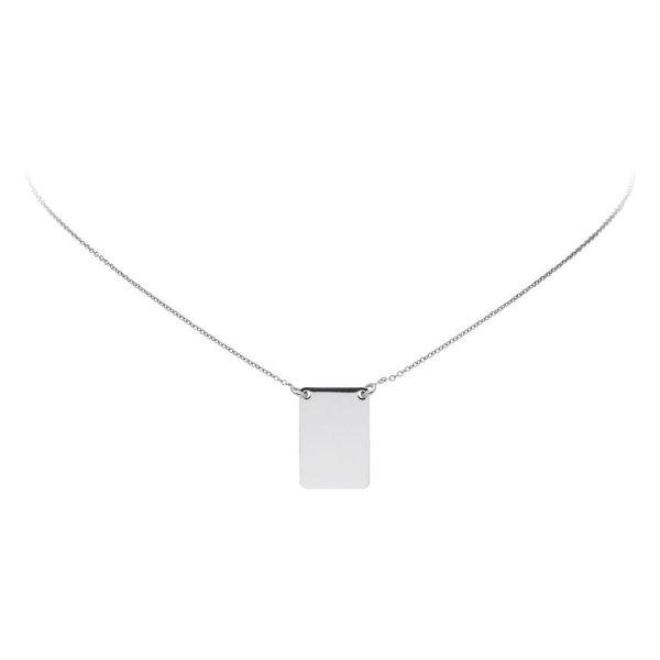 Zilveren collier -plaatje 14x20mm - gerodineerd