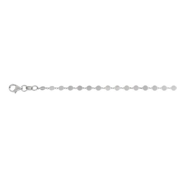Zilveren schakelarmband - rond - 17+3 cm