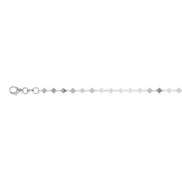 Zilveren schakelarmband - wiebertjes - 17+3 cm