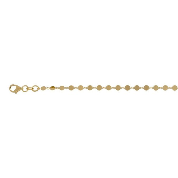 Zilveren gold-plated armband - rond - 17+3 cm
