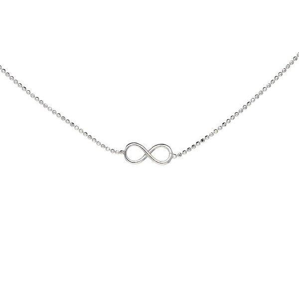 Zilveren collier met hanger - infinity - 42-45 cm