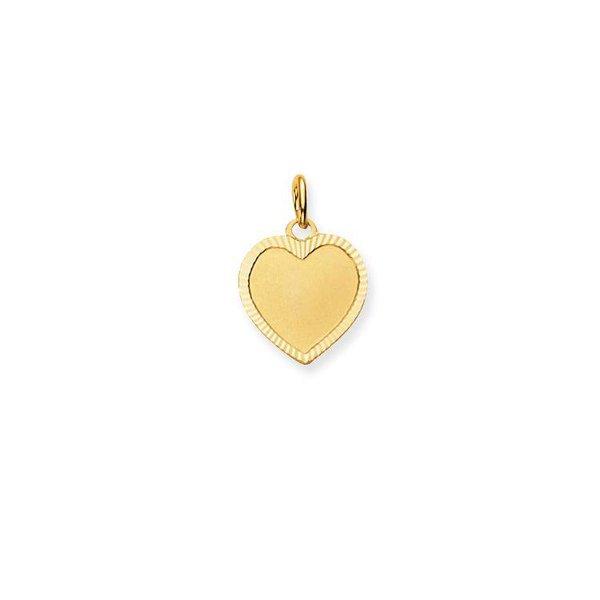 Gouden graveerplaatje - hart - 13 x 13 mm