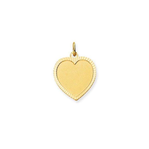 Gouden graveerplaatje - hart - 17 x 17 mm
