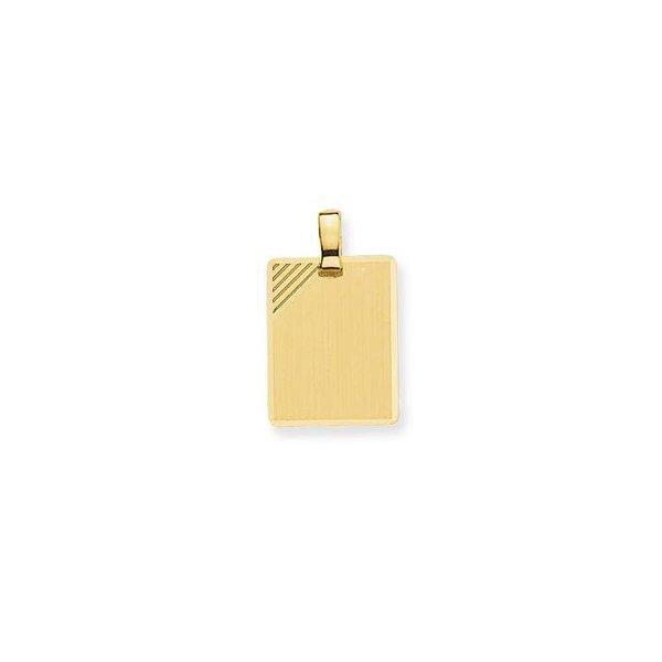 Gouden graveerplaatje - rechthoek - 16.5 x 12.5 mm