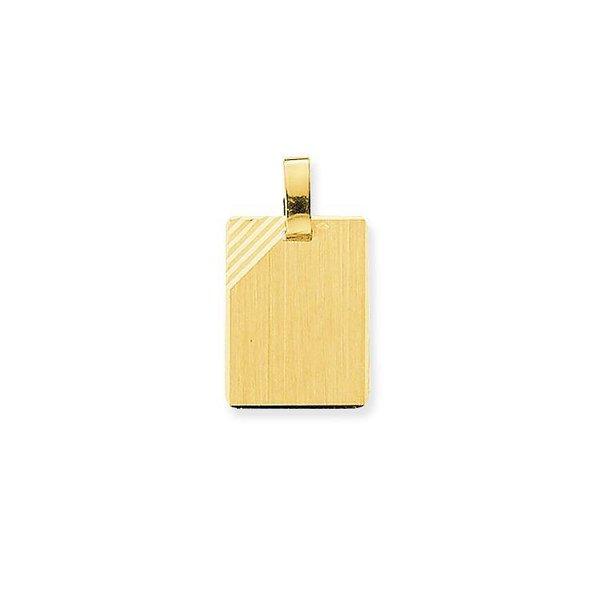 Gouden graveerplaatje - rechthoek - 19 x 14 mm