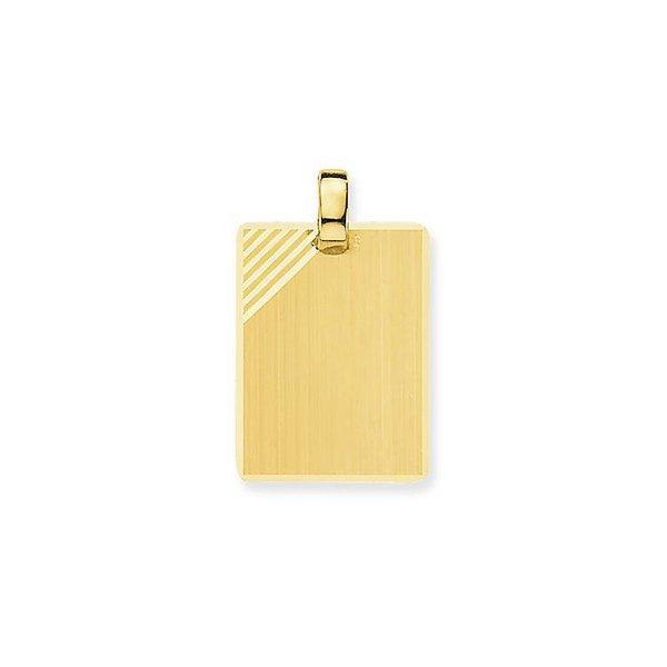 Gouden graveerplaatje - rechthoek - 21 x 15.5 mm