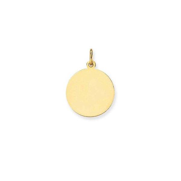 Gouden graveerplaatje - rond - glanzend - 16 mm