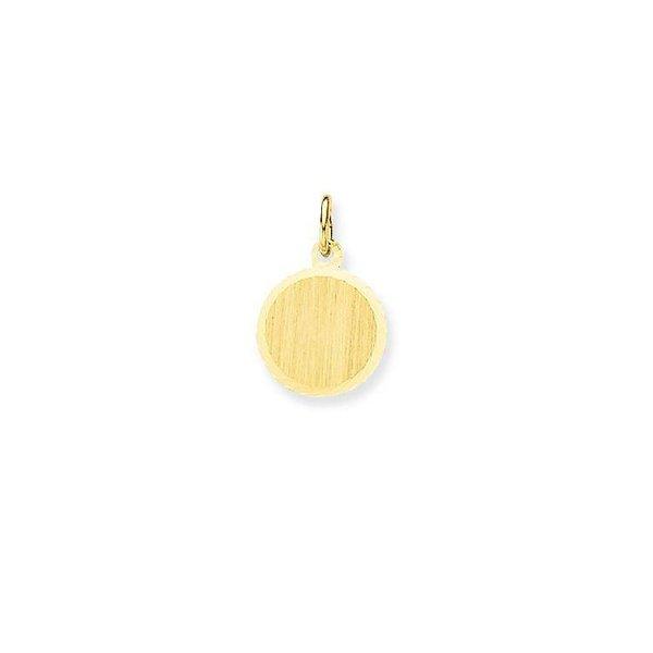 Gouden graveerplaatje - rond - 12 mm