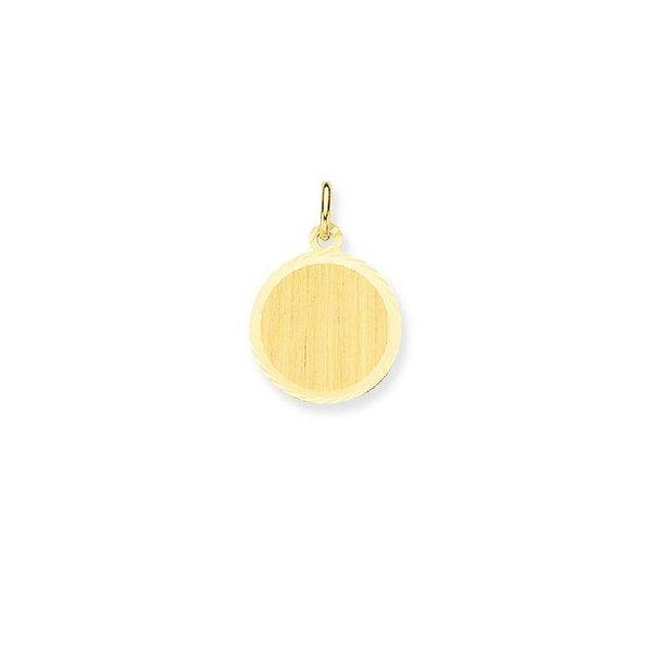 Gouden graveerplaatje - rond - 14 mm