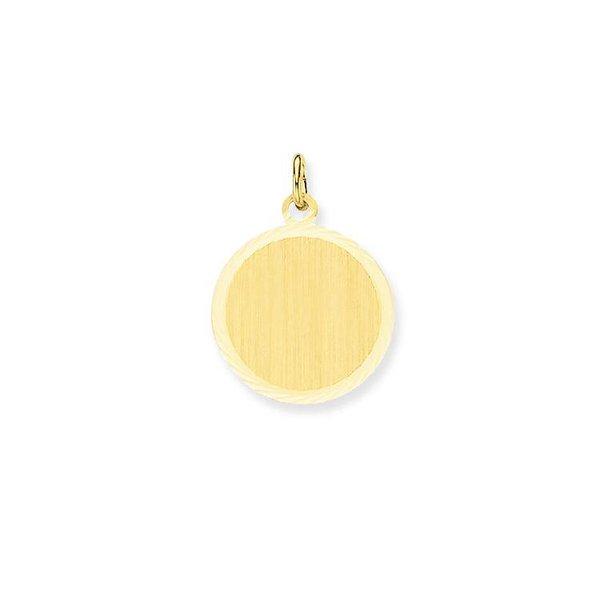 Gouden graveerplaatje - rond - 18 mm