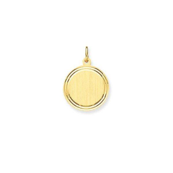 Gouden graveerplaatje - rond - 16 mm