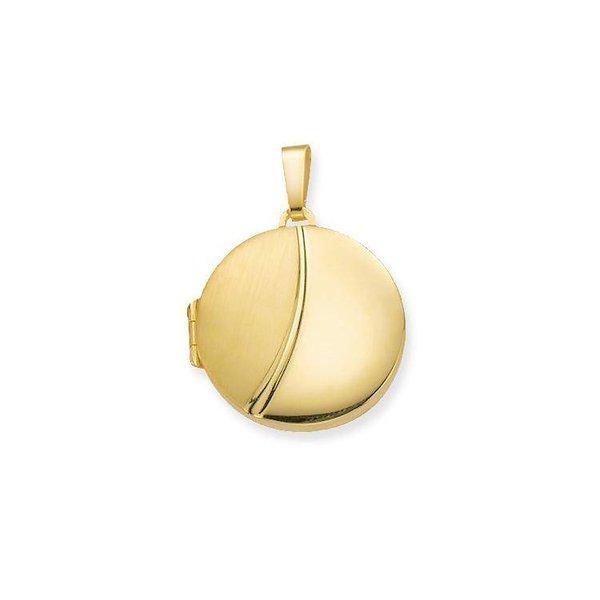 Gouden medaillon - rond - 21.5 x 21.5 mm
