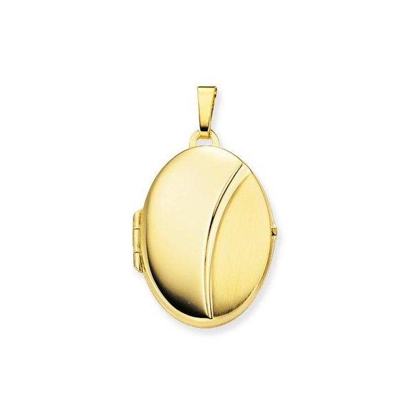 Gouden medaillon - ovaal - mat glanzend