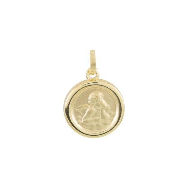 Gouden hanger - 14 mm - cupido - rond