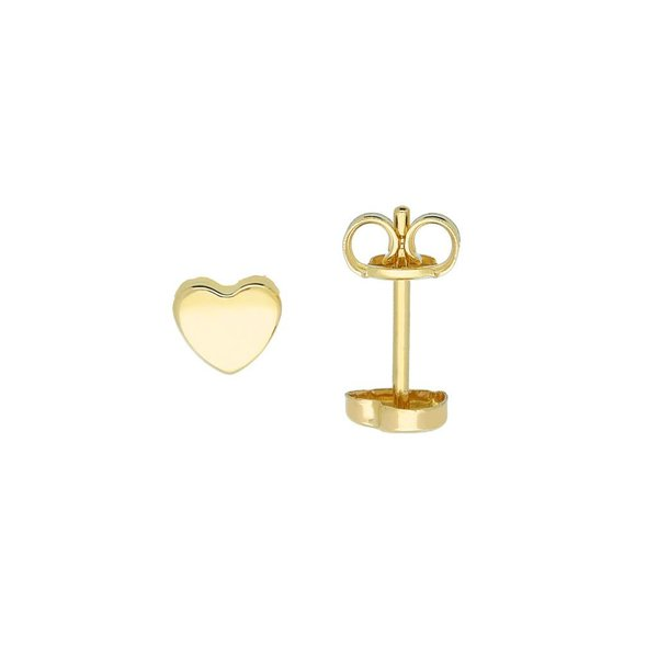 Gouden symbooloorknopjes - hart - glanzend