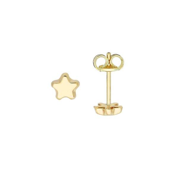 Gouden kinderoorknopjes - ster - glanzend
