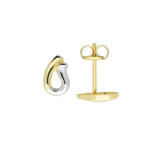 Gouden oorknopjes - glanzend - u-vorm