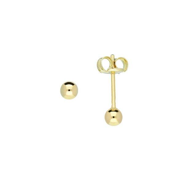 Gouden boloorknopjes - glad - 3.0 mm
