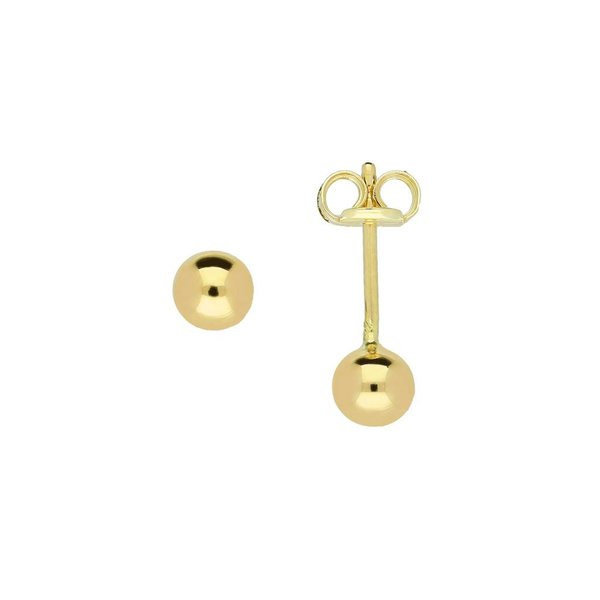 Gouden boloorknopjes - glad - 4.0 mm