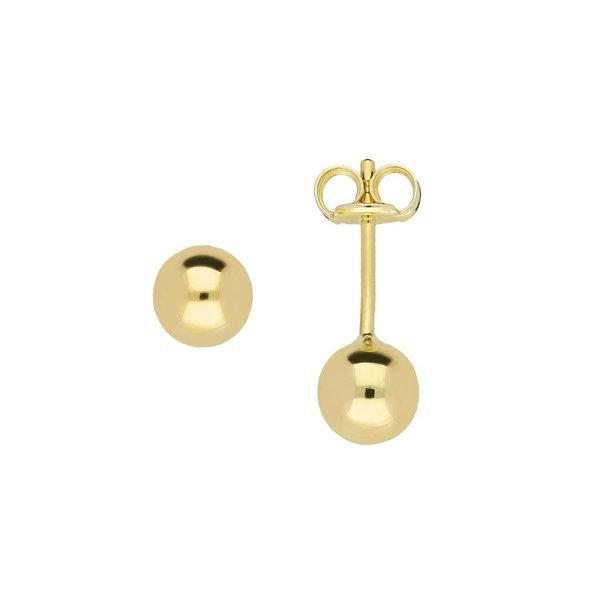 Gouden boloorknopjes - glad - 5.0 mm