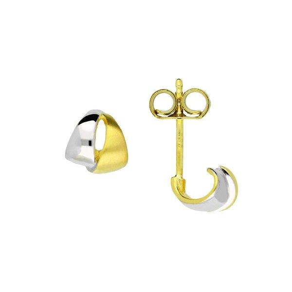 Gouden oorknopjes zonder steen - mat glanzend