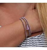 City Armband - kristal - purple -