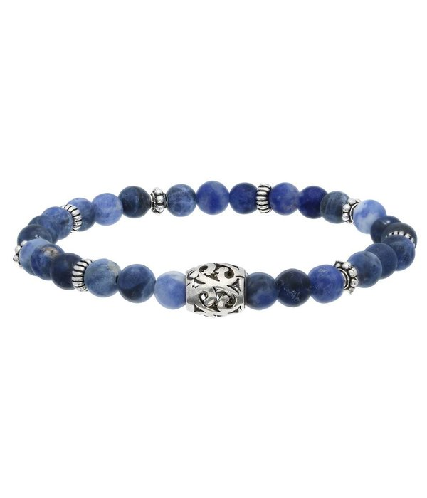 Gents collection Armband - lava steen sodaliet -