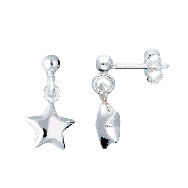 Zilveren kinderoorknopjes - ster