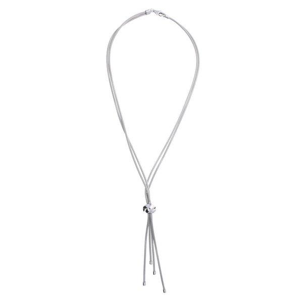 Zilveren y-collier -  calza - knoop