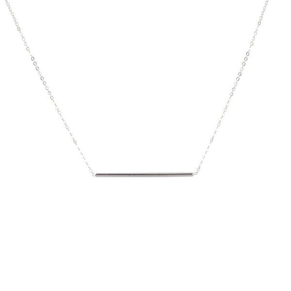Zilveren symboolcollier - anker - staaf