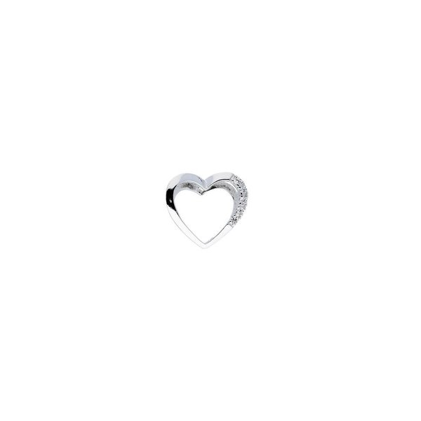 Zilveren hanger - hart - zirkonia