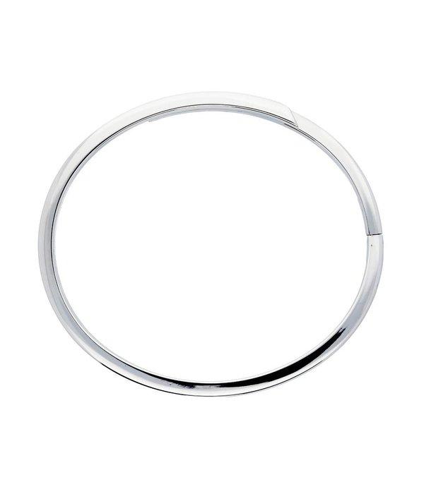 Best basics Zilveren holle slavenband dop - glanzend - Gerodineerd