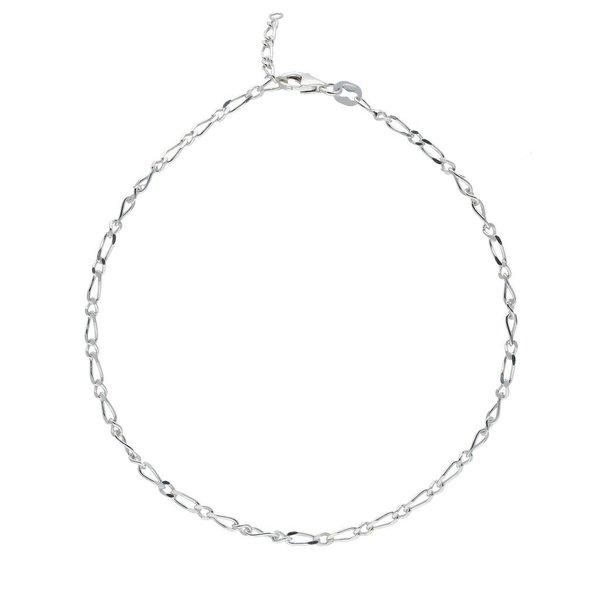 Zilveren enkelbandje - figaro - 2.3mm