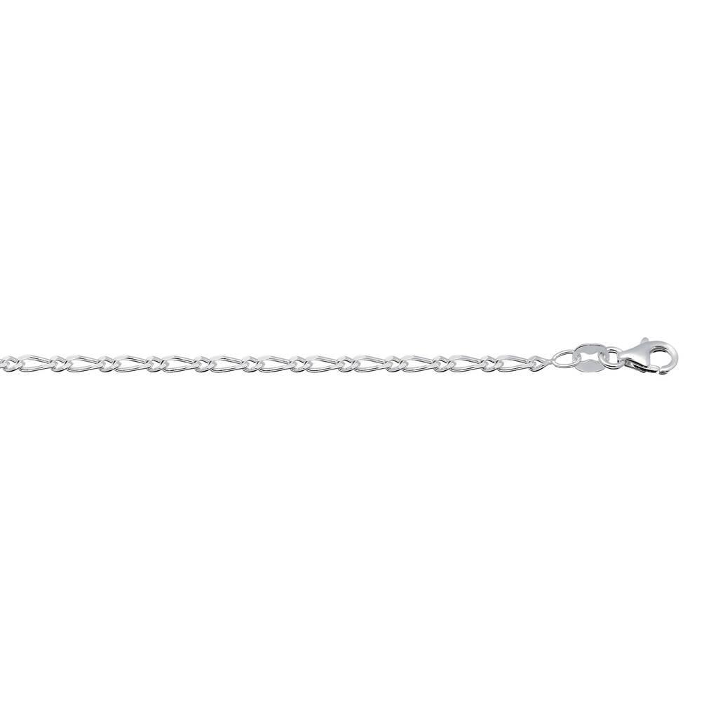 Best basics Zilveren enkelbandje - figaro - 2.3mm - 23 - 26cm