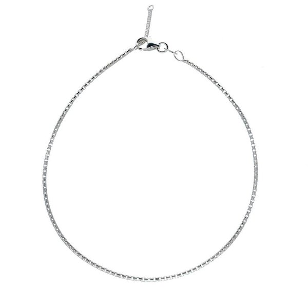 Zilveren enkelbandje - rond venetiaan - 1.5 mm