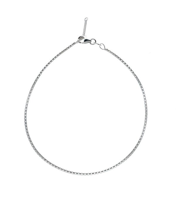 Best basics Zilveren enkelbandje - rond venetiaan - 1.5 mm - 23 - 26 cm