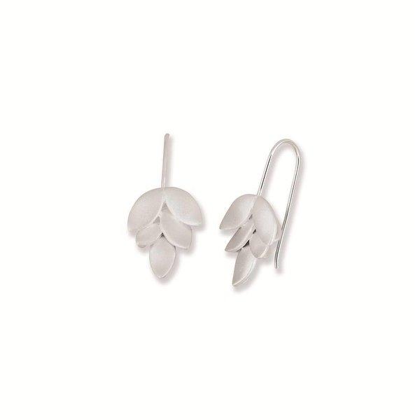 Zilveren oorhangers haak elegance