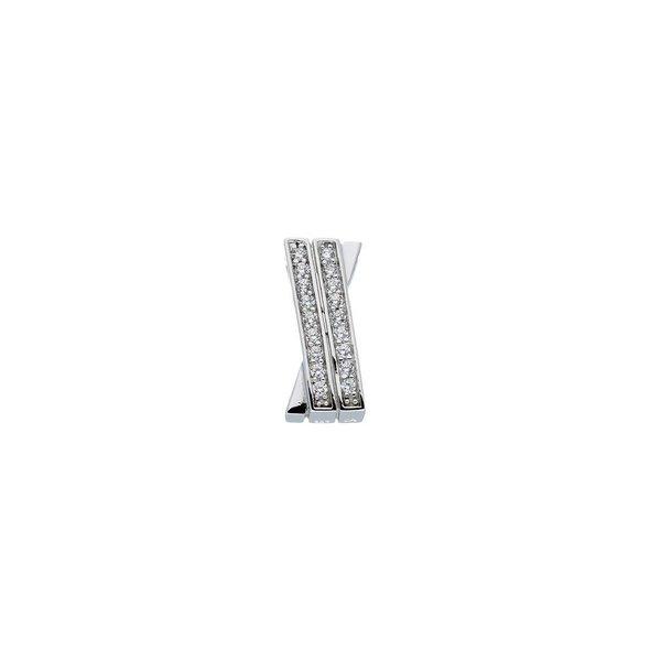 Zilveren hanger - zirkonia