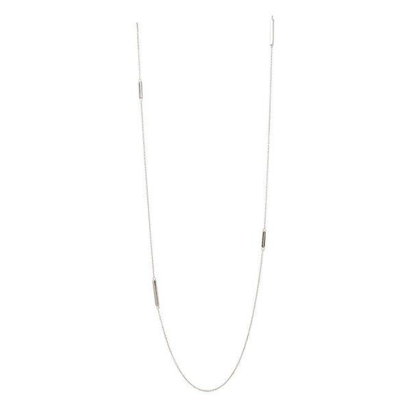 Zilveren chanelcollier - 4x bar - 87 cm
