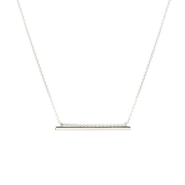 Zilveren symboolcollier - rechte hanger