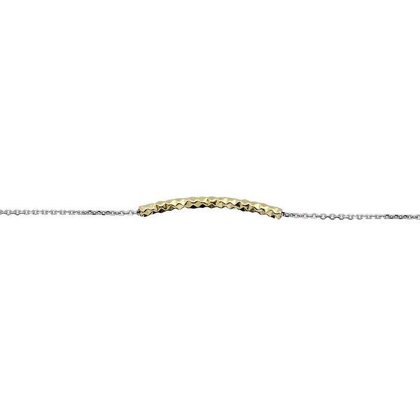Zilveren symboolarmband - met gold-plated buisje