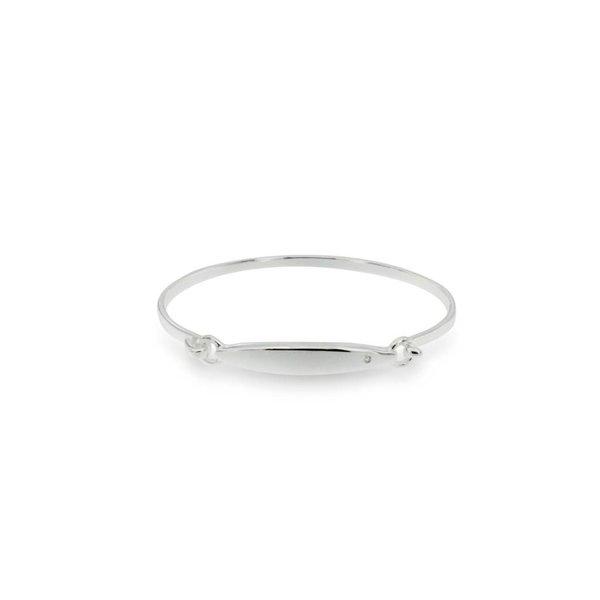 Zilveren klemarmband - 46 mm - diamant