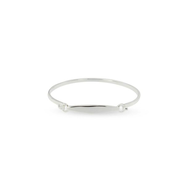 Zilveren klemarmband - 46 mm - glad