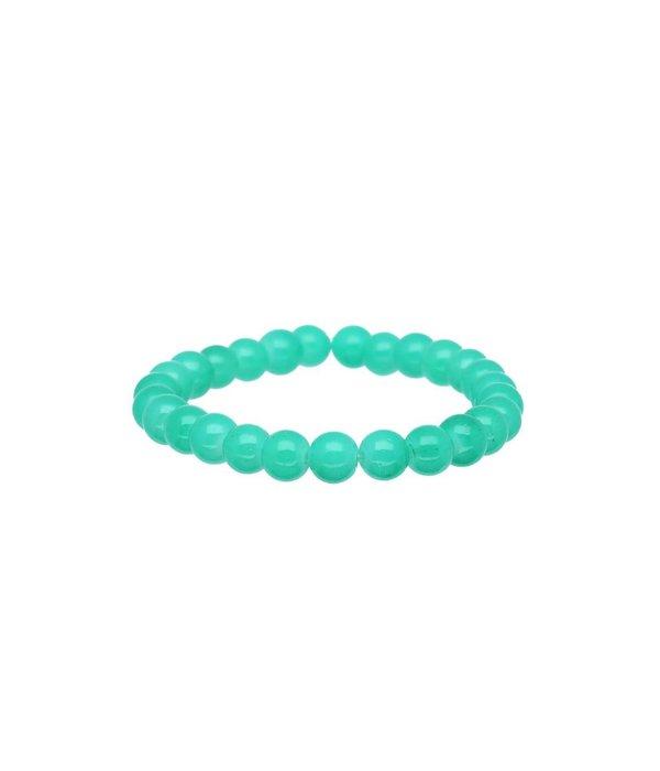 Lilly Stretch kralenarmband - 50 mm - groene glaskralen -